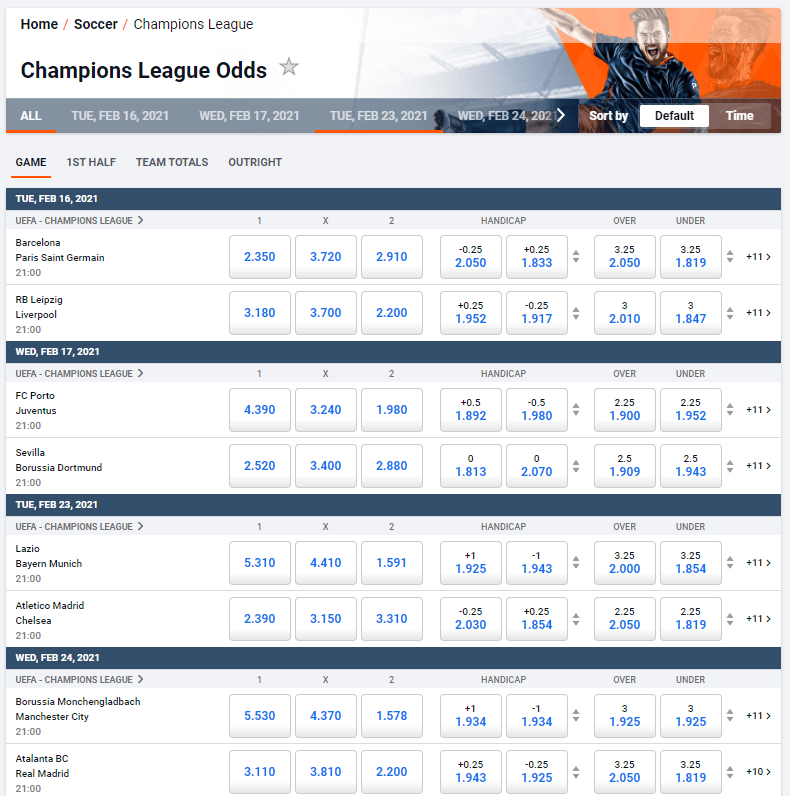 Pinnacle Sports Review Champions League Betting Odds