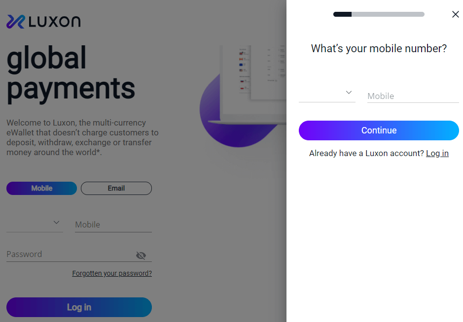 Luxon Pay Review Registration