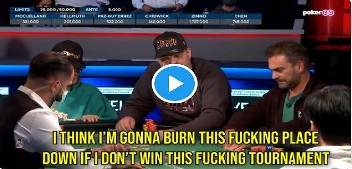 Phil Hellmuth completely blows up at Stud Final Table due to missing 17th Bracelet