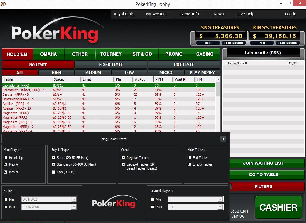 Pokerking Lobby